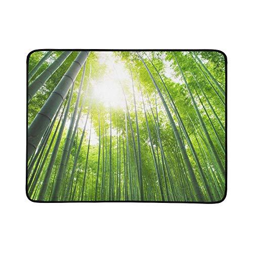 KAOROU Bambuswaldung Bambuswald Arashiyama Kyoto tragbare und Faltbare Deckenmatte 60x78 Zoll handliche Matte für Camping Picknick Strand Indoor Outdoor Reise