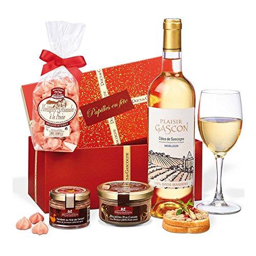 """Ducs de Gascogne - petit cadeau gourmand """"Trésor"""" - comprend 3 produits d'épicerie fine et 1 vin"""