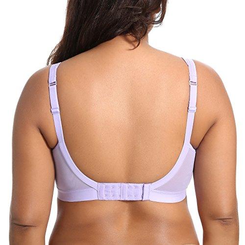 Gratlin Damen Baumwolle Still BH - Große Größen Schwangerschafts-BH Lavendel