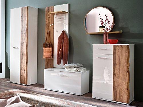 möbelando Garderobe Garderobenprogramm Flurmöbel Komplettset Standgarderobe Gandia I