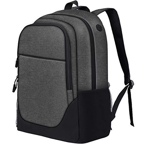 PUREBOX Schulrucksack Laptop Rucksack Jungen Herren Notebook Rucksack 17 Zoll Wasserdicht Schultasche Laptoptasche Daypack mit Trolley-Fixiergurt(Dunkelgrau)