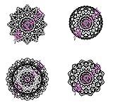CELYCASY Zentangle Mandala SVG - Archivadores de corte para cámaras de fotos, circuitos, descarga digital instantánea, 4 diseños