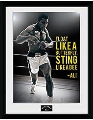 GB eye LTD, Muhammad Ali, Sting Like A Bee, Fotografía enmarcada, 40 x 30 cm