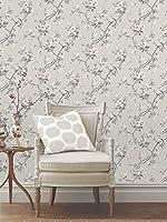 Fine Decor Chinoiserie Wallpaper in Silver FD40764 Full Roll from Fine Decor