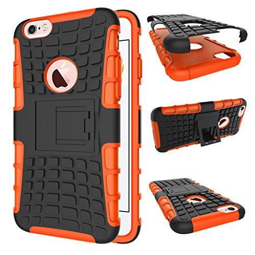 "iphone 6s Coque, MYTH Coque Antichocs Video Béquille ShockProof Protecteur Etui Housse Cover pour iphone 6 /iphone 6S 4.7"" Rose Orange"