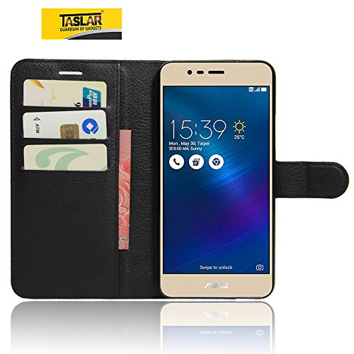 Taslar(TM) Asus ZenFone 3 Max ZC520TL 5.2 Inch, Leather Wallet Magnetic Clip Stand Flip Back Case Cover for Asus ZenFone 3 Max ZC520TL