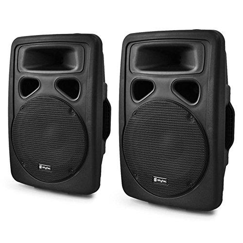Skytec SP1000A Paar PA-Lautsprecher 25cm Aktiv-Box 2x500W ABS schwarz (1000w Surround-sound-system)