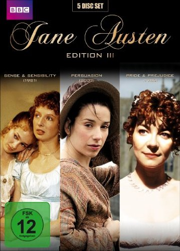 Jane Austen Edition 3 (Sinn und Sinnlichkeit / Persuasion / Pride & Prejudice) (Collector's Edition) (5 DVDs)