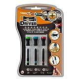 PUNTAS PZ Y PORTAPUNTAS MAGNETICO MAGNET DRIVER B33, atornilla con una sola mano con las herramientas de este blister que contiene 3 puntas PZ y 3 magnet driver sujeta tornillos