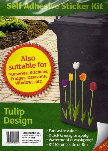 Wheelie Bin auto adhésif Kit autocollant. Tulip Conception