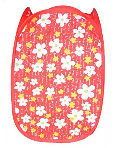 Homeline Cesto plegable Vertical - Modelo floral (48x25.5x25.5 cm) - Rote