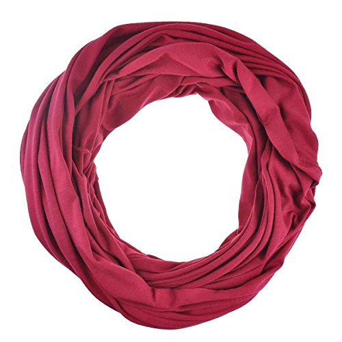 Unisex Jersey Circle Loop Infinity Plain Snood Scarf For Men & Women, Tube Neck Warmer Soft 200g PREMIUM QUALITY 50% COTTON Scarves - 100% QUALITY GURANTEE
