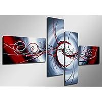 Visario 6516 Set de tableaux sur toile taille XXL motif moderne 160cm