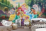Disney Prinzessinnen Rapunzel Arielle - Wallsticker Warehouse - Fototapete - Tapete - Fotomural - Mural Wandbild - (2492WM) - XL - 254cm x 184cm - Papier (KEIN VLIES) - 2 Pieces