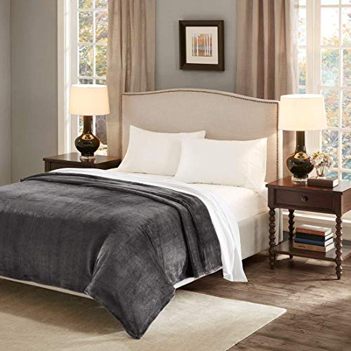 URBAN HABITAT Manta Súper Suave Calidad 280 g/m² Blanket Sofá Cama (200_x_240_cm, Gris)