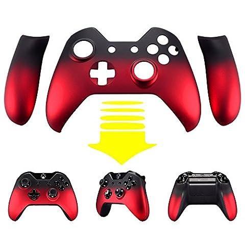 eXtremeRate® Red Shadow Soft Touch Front Housing Shell Plaque de recouvrement Pièces de rechange Panneau latéral pour Xbox One Controller W / 3.5 mm