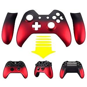 eXtremeRate Schutzhülle Obere Case Hülle Cover Schale Gehäuse mit 2 Seitenteilen für Xbox One Standard Controller mit Oder Ohne 3,5mm-Anschluss(Rot)