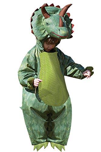 Jungen Triceratops Kostüm Mädchen Dinosaurier Fancy Kleid Animal All in (Stadt Mädchen Kostüme Party)