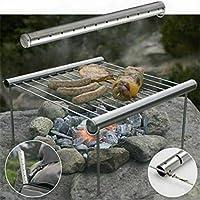 Barbacoa De Camping Al Aire Libre-portátil Y Ligero por Tubo Grill-Camping BBQ Camping Senderismo Picnic Al Aire Libre Carbón Barbacoa Parrilla