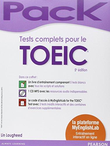 Pack Tests complets pour le TOEIC 5e édition + CD MP3 + la plateforme MyEnglishLab : Entraînement interactif en ligne