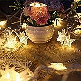 """GPCT, """"Star Fairy"""", LED-Lichterkette, mit 40 klaren Sternen, 4 m, für den Innen- und Außenbereich - gelb"""