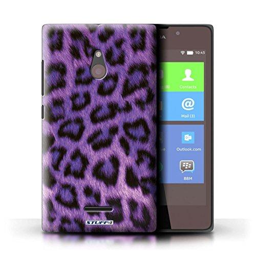 Kobalt® Imprimé Etui / Coque pour Nokia XL / Bleu conception / Série Peau de Léopard Animal Pourpre