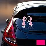 Autotattoo Heckscheibenaufkleber Fahrzeug Sticker Aufkleber Baby Schneekönigin Frozen Kinder M1872 - ausgewählte Farbe: *pink* ausgewählte Größe: *M - 18cm breit x 25cm hoch*