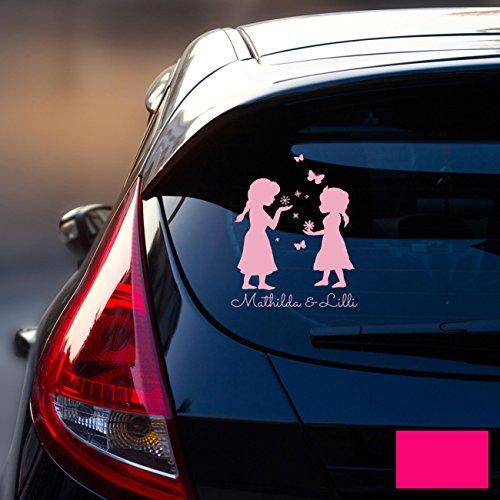 ilka parey wandtattoo welt Autotattoo Heckscheibenaufkleber Fahrzeug Sticker Aufkleber Baby Schneeprinzessin Kinder M1872 - ausgewählte Farbe: *pink* ausgewählte Größe: *M - 18cm breit x 25cm hoch*