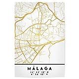 artboxONE Poster 60x40 cm Städte Malaga Spain Street MAP
