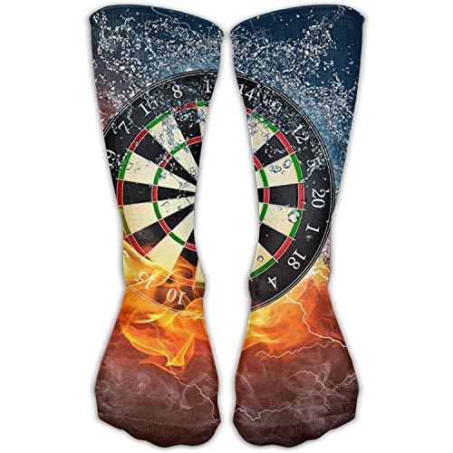shengpeng25 Dart Board Target Ice Fire Long Novelty High Athletic Sock Outdoor Gift