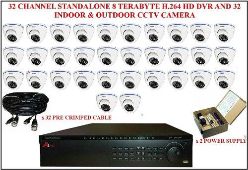TC66 - 32 Kanal 8 TERABYTE H, 264 DVR mit APOLLO innen 32 Stand HD & Überwachungskamera für den Außenbereich (32-kanal-hd-dvr)