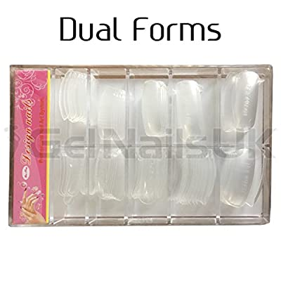 Dual System Nail Forms For Perfect Acrylic Nail Sculpting 100 pieces Per Box For Bluesky Gum Gel