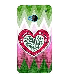 EPICCASE be mine Mobile Back Case Cover For HTC One M7 (Designer Case)