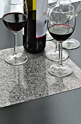 Tapis de sol en plastique lavable, granite, Lot de 6