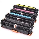 Cartuccia di toner compatibile da 4 pacchi per HP 312X CF380X CF380A CF381A CF382A HP Color LaserJet Pro MFP M476dw MFP M476dn MFP M476nw Stampanti (1 nero, 1 ciano, 1 giallo, 1 magenta)