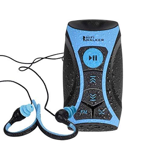 HIFI WALKER Swimbuds Sport-Kopfhörer und 8 GB Wasserdichter MP3-Player mit Shuffle-Funktion - Mp3-player Shuffle Mit