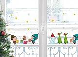 Xmas Fenstersticker Wichtel und Geschenke