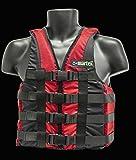 Kayak Ski Classic Buoyancy Aid 50N Impact Jacket Pfd Vest (Red, XXL 90+kg)