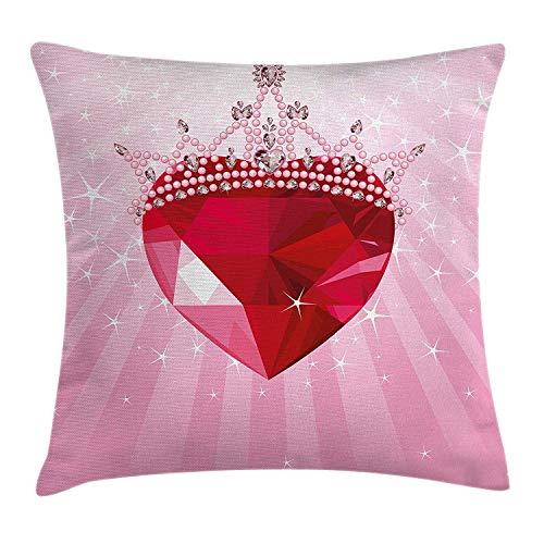 xinmi Essen Throw Pillow Kissenbezug, Cartoon wie Bild von und schmelzenden Eistüten farbigen Streuseln künstlerischen Print, dekorative quadratische Akzent Kissenbezug, 18 x 18 Zoll, Mehrfarbig