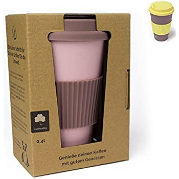 Planet Bamboo Coffee-To-Go-Becher aus Bambus (400 ml | Mara Cuja ...