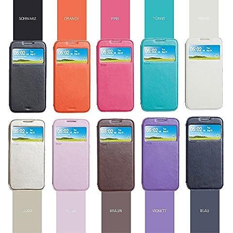 Samsung Galaxy S8 Hülle Handyhülle Flip Case Tasche Handytasche | Roar Premium Marken Magnet Wallet Etui | View Cover mit Fenster | Innenhülle aus weichem PU-Silikon | Standfunktion | Kartenfach | (Tasche Magnete)