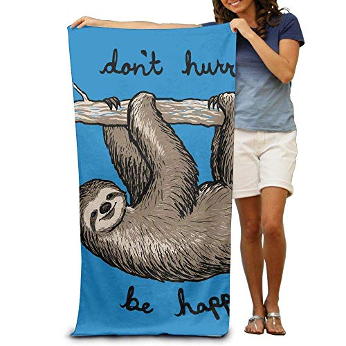 Sdltkhy Funny Sloth Climbing Adult Beach Towels Plush Multipurpose Use for Swim Beach Camping Yoga Quick Dry - Braune Outdoor Wand Licht