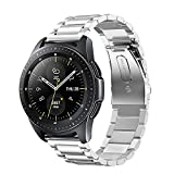 FINTIE Cinturino per Galaxy Watch 42mm/Galaxy Watch Active/Active 2/Gear Sport/Gear S2 Classic/Huawei Watch 2 - 20mm Cinturini di Ricambio in Acciaio Inossidabile Banda, Argento