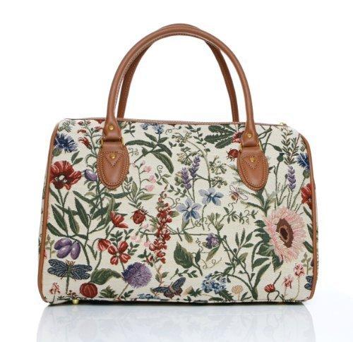 Signare - Bolso de viaje (tela, válido como equipaje de mano), diseño de jardín floral