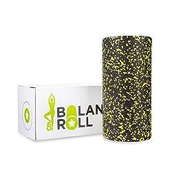 Balance Roll - Made in Germany - Faszienrolle - Schwarz Gelb (Soft) incl. Anleitung mit Übungsbeispielen