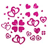 Oblique-Unique® Glitter Herzen Sticker in Pink