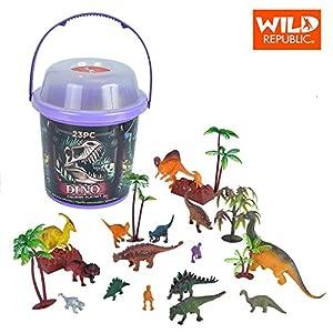 Wild Republic figurillas coleccionables Dinosaurio, Cubo de Juego y Aventuras, 20 cm, 23-Piezas, 22113