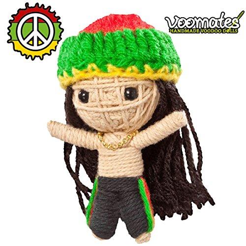 Preisvergleich Produktbild Voomates String Doll Voodoo-Puppen - handgemachte Sorgen-Püppchen Fingerpuppen - Die Handpuppen mit 81 Modelle - Rastafari Bob (Bob Marley)