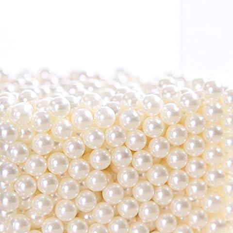 [Art Faux Perles], ZRO Blanc 1500Pcs Diamètre 6mm Art Faux Perles pour Brosse à maquillage Accessoires - 6 Spazzola Di Arte