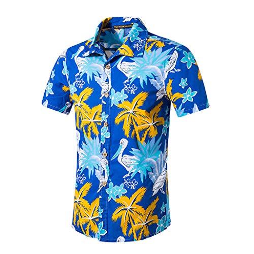 YUHUISTART T Shirts Herren Sommermode Neue T Shirts Beach Style Comfort Fit Druck Baumwolle Kurzarm T Shirts